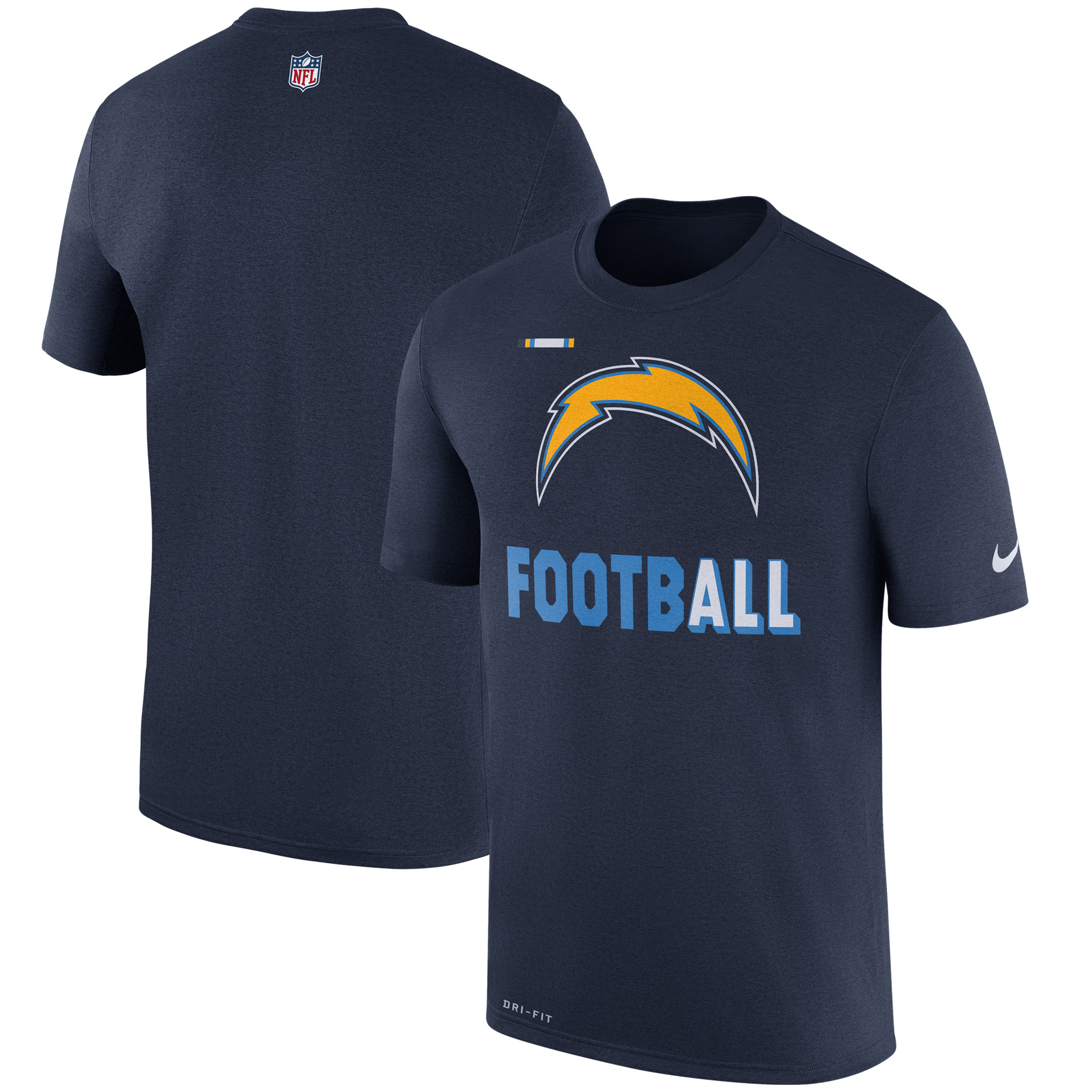 Los Angeles Chargers Nike Sideline Legend Football Performance T-Shirt - Navy