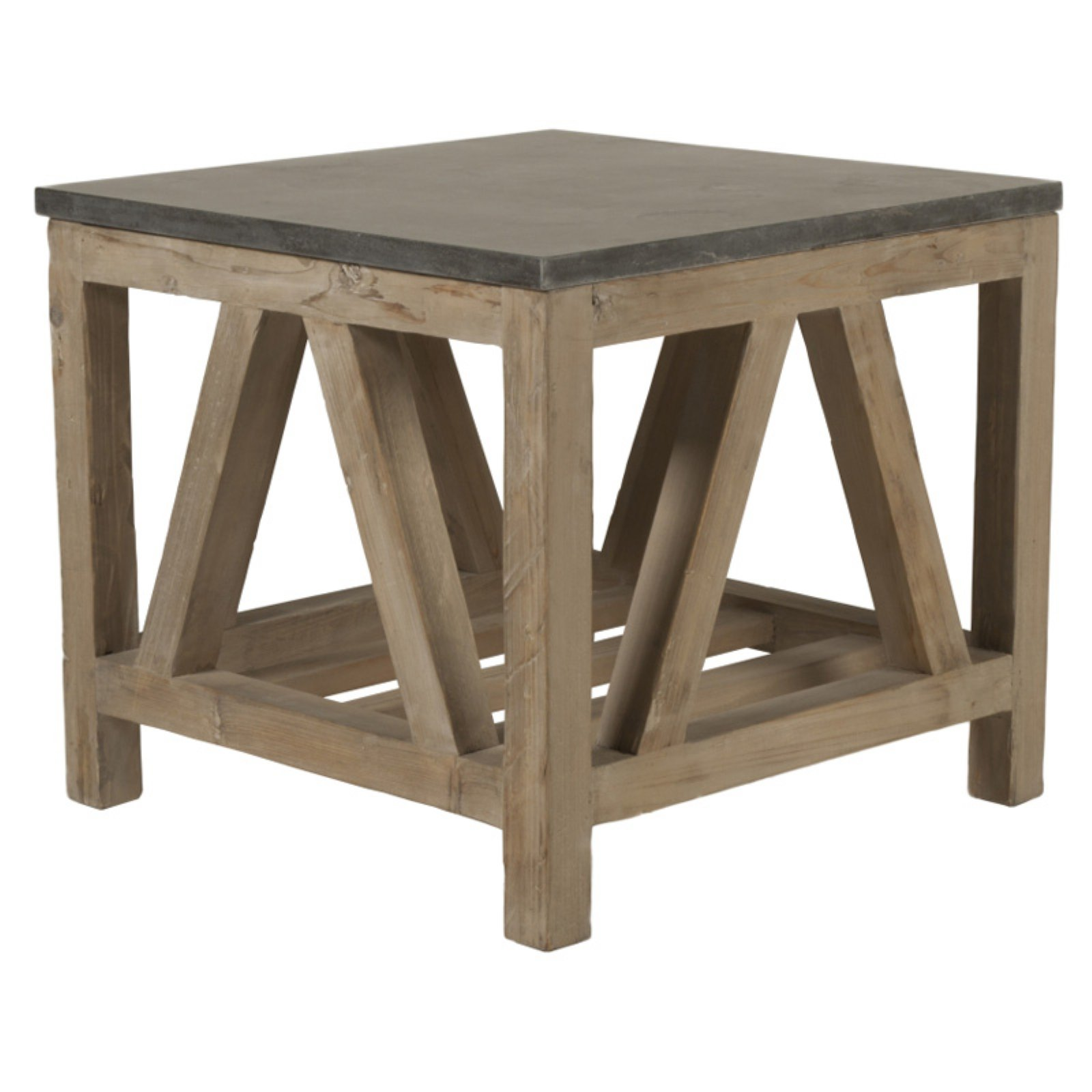 Attractive Orient Express Furniture Blue Stone End Table