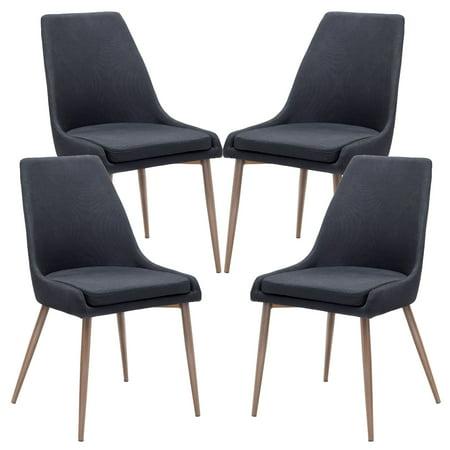 poly and bark ethen dining chair in black set of 4. Black Bedroom Furniture Sets. Home Design Ideas