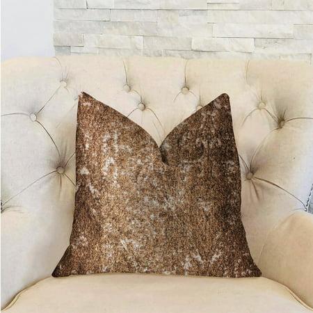 Plutus PBRA2321-2026-DP Chestnut Crush Brown Luxury Throw Pillow, 20 x 26 in. Standard - image 2 of 3