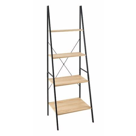 70u0022 Ladder Bookshelf Mixed Material Light Brown - ClosetMaid