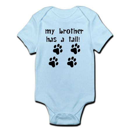 CafePress - My Brother Has A Tail Body Suit - Baby Light (Best Baby Brothers)