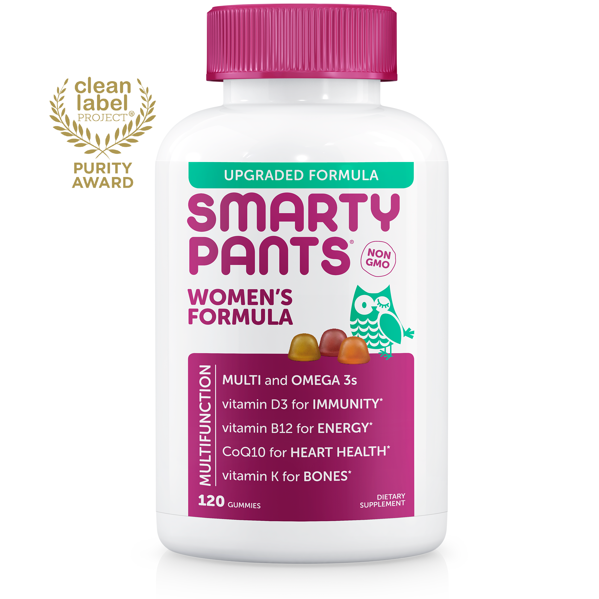 SmartyPants Women's Formula Multivitamin Gummies, 120 Ct