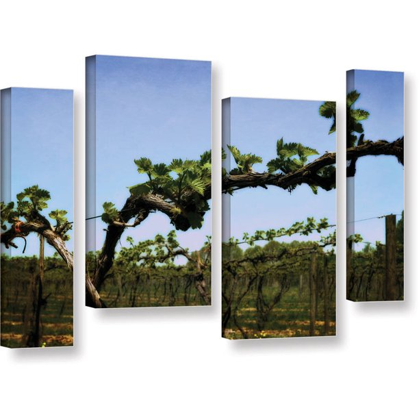 Artwall Kevin Calkins Spring Vineyard 4 Piece Gallery Wrapped Canvas Staggered Set Walmart Com Walmart Com
