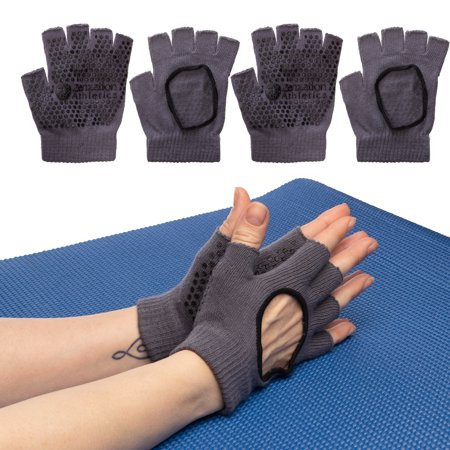 Zenzation (3 Pairs) Yoga Gloves For Women Non Slip Grip For Pilates Fitness Fingerless Breathable