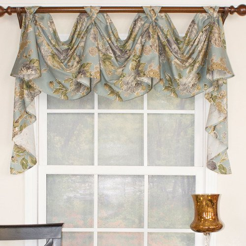 Rlf Home Fl Essence 3 Scoop Victory Swag Curtain Valance