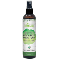 Organic Tea Tree Witch Hazel Toner (8 oz) Purifying Tea Tree Toner Witch Hazel Face Mist Tea Tree - Oily Acne and Blemish Prone Skin - Cruelty-Free and Vegan Facial Toner