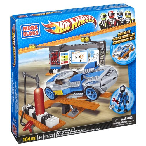 Mega Bloks Hot Wheels Speed Race Pit Stop by