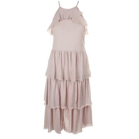 - Rachel Rachel Roy Blush Sleeveless Textured Tiered Fit & Flare Dress M
