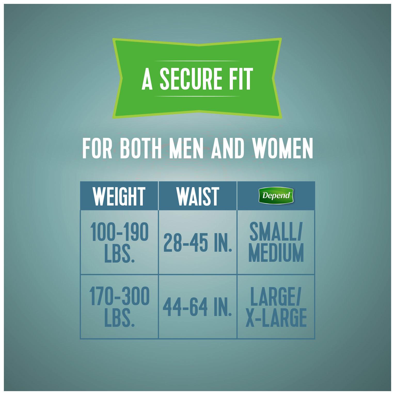 Depend Adjustable Incontinence Underwear, Maximum Absorbency S/M, 18 Ct -  Walmart.com