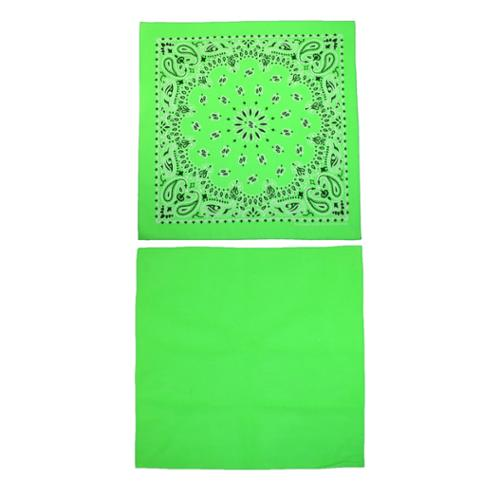CTM®  Cotton Solid and Paisley Print Neon Bandana Kit (Pack of 2)