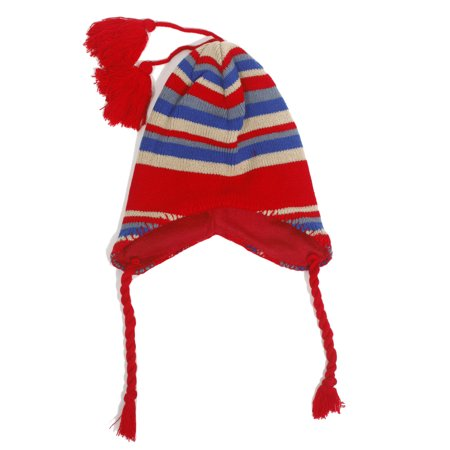 Toddler Kids Child Warm Winter Stripe Earflap Beanie Ski Fleece Hat Cap Winter Ski Earflap