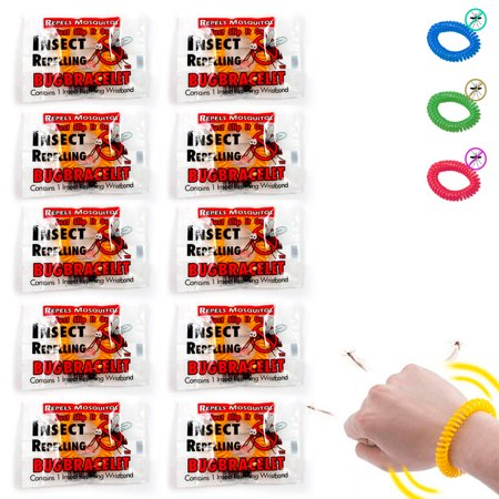 10 Anti Mosquito Insect Bug Bracelet Long Lasting Repellent Repeller Wrist Band ()
