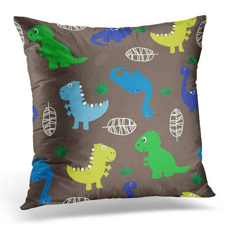 Monster Pillow - ECCOT Monster with Dinosaur Cute Cartoon Adorable Pillowcase Pillow Cover Cushion Case 16x16 inch