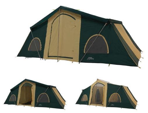 Trek Tents 249 Polyester Taffeta 12 Person 10' x 20' Cabin Tent w  Rain Fly by Trek Tents