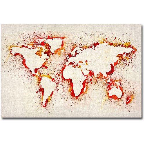 Trademark art paint outline world map canvas art by michael trademark art paint outline world map canvas art by michael tompsett gumiabroncs Images