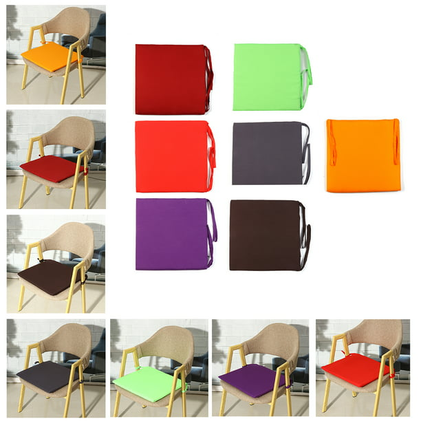 38x38x2cm Chair Seat Pad Office Mat Cover Garden Home Decor Indoor Outdoor Dining Chair Cushion With Ties Walmart Com Walmart Com
