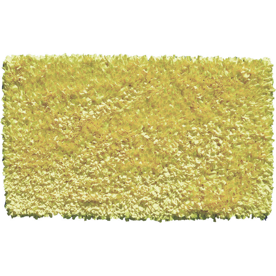 The Rug Market Shaggy Raggy Yellow Neon Size 2.7X4.7 Area Rug