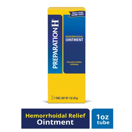 Preparation H Hemorrhoid Symptom Treatment Ointment, Itching, Burning and Discomfort Relief, Tube (1.0 Ounce) Hemorrhoidal Ointment Tube