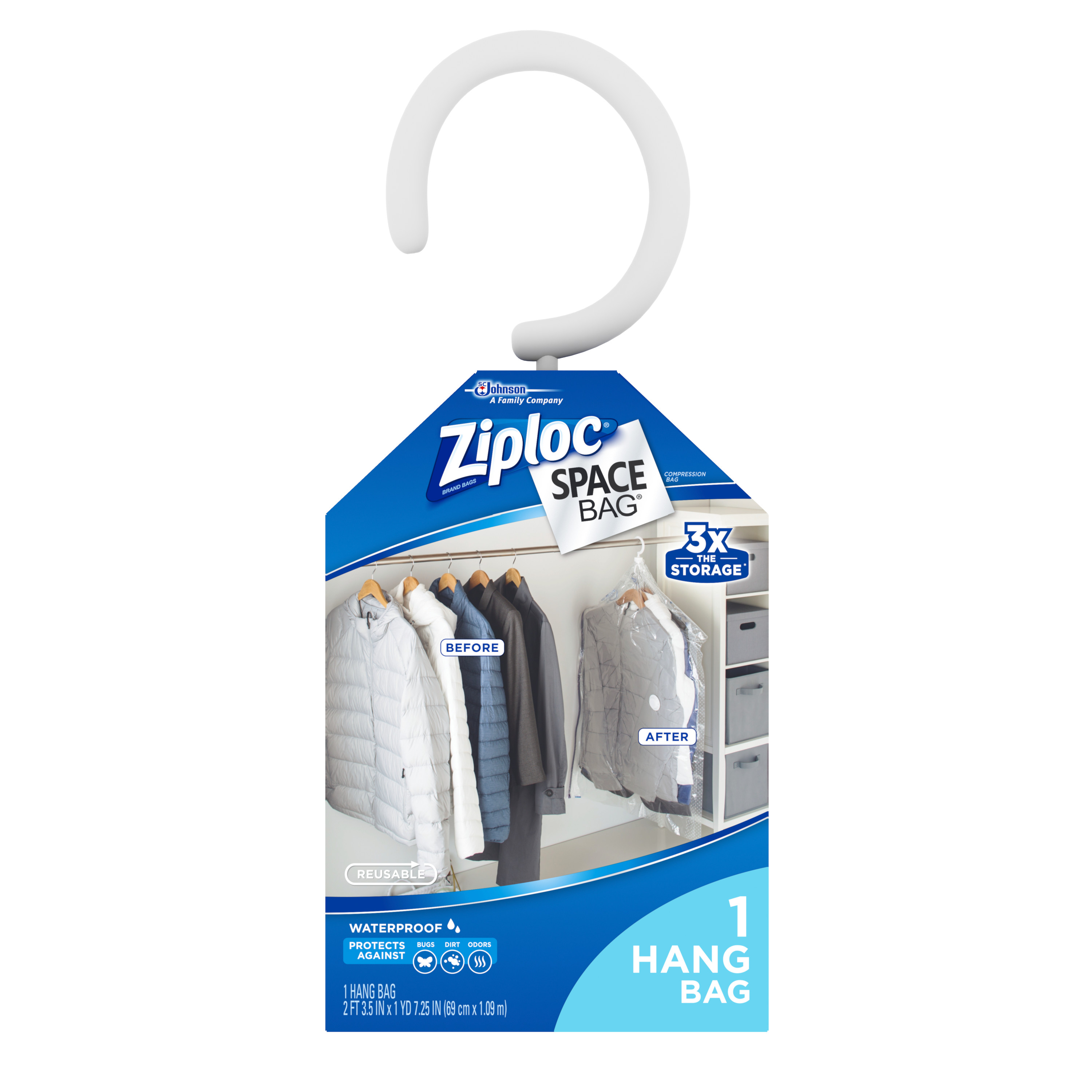 Ziploc Space Bag Hanging Suit Bag 1 count