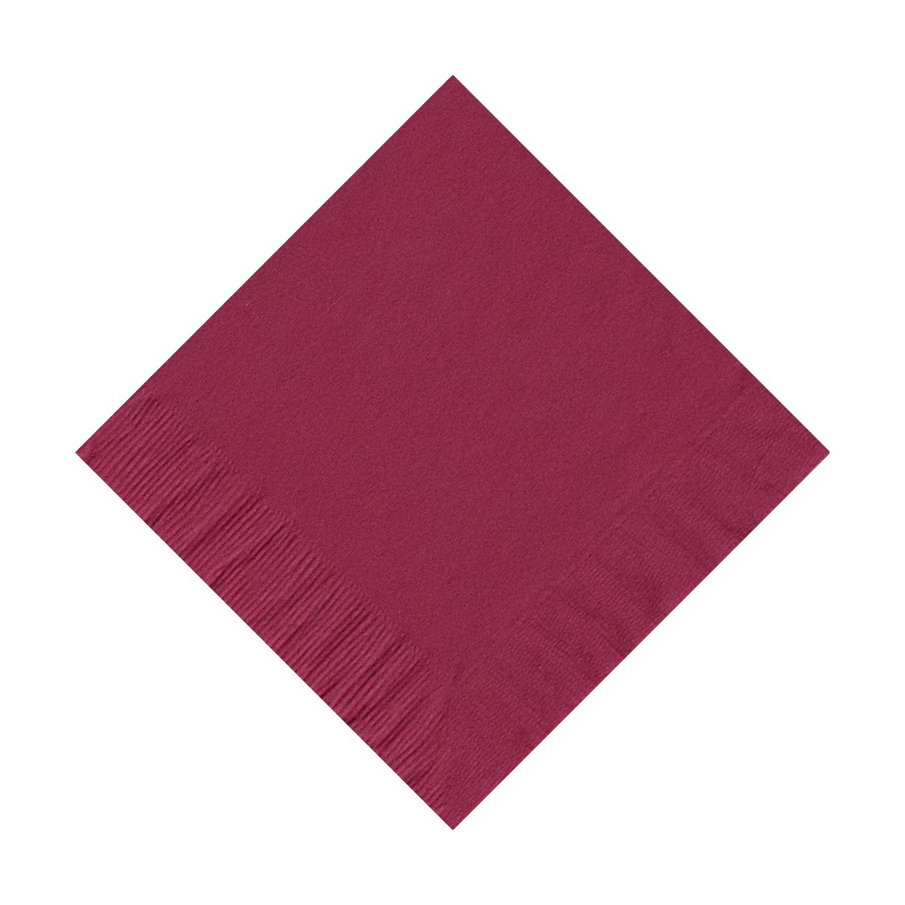 50 Plain Solid Colors Beverage Cocktail Napkins Paper Burgundy by CREATIVE CONVERTING