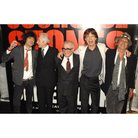 Ronnie Wood Charlie Watts Martin Scorsese Mick Jagger Keith Richards At Arrivals For Shine A Light Premiere ClearviewS Ziegfeld Theater New York Ny March 30 2008 Photo By Slaven VlasicEverett