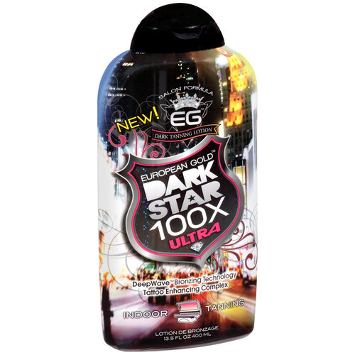 European Gold Dark Star 100x Ultra Indoor Tanning Lotion, 13.5 fl oz