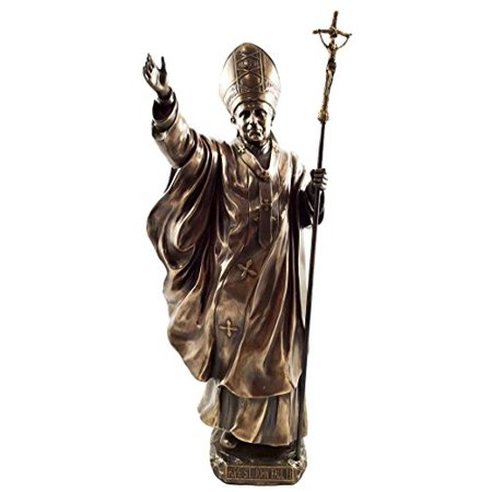 Bronzed Large Venerable Pope John Paul II Figurine Pontiff Saint The Great Statue