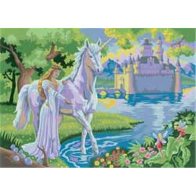 Royal Brush 257397 Junior Large Paint By Number Kit 15. 25 inch X 11. 25 inch -Fairy Castle