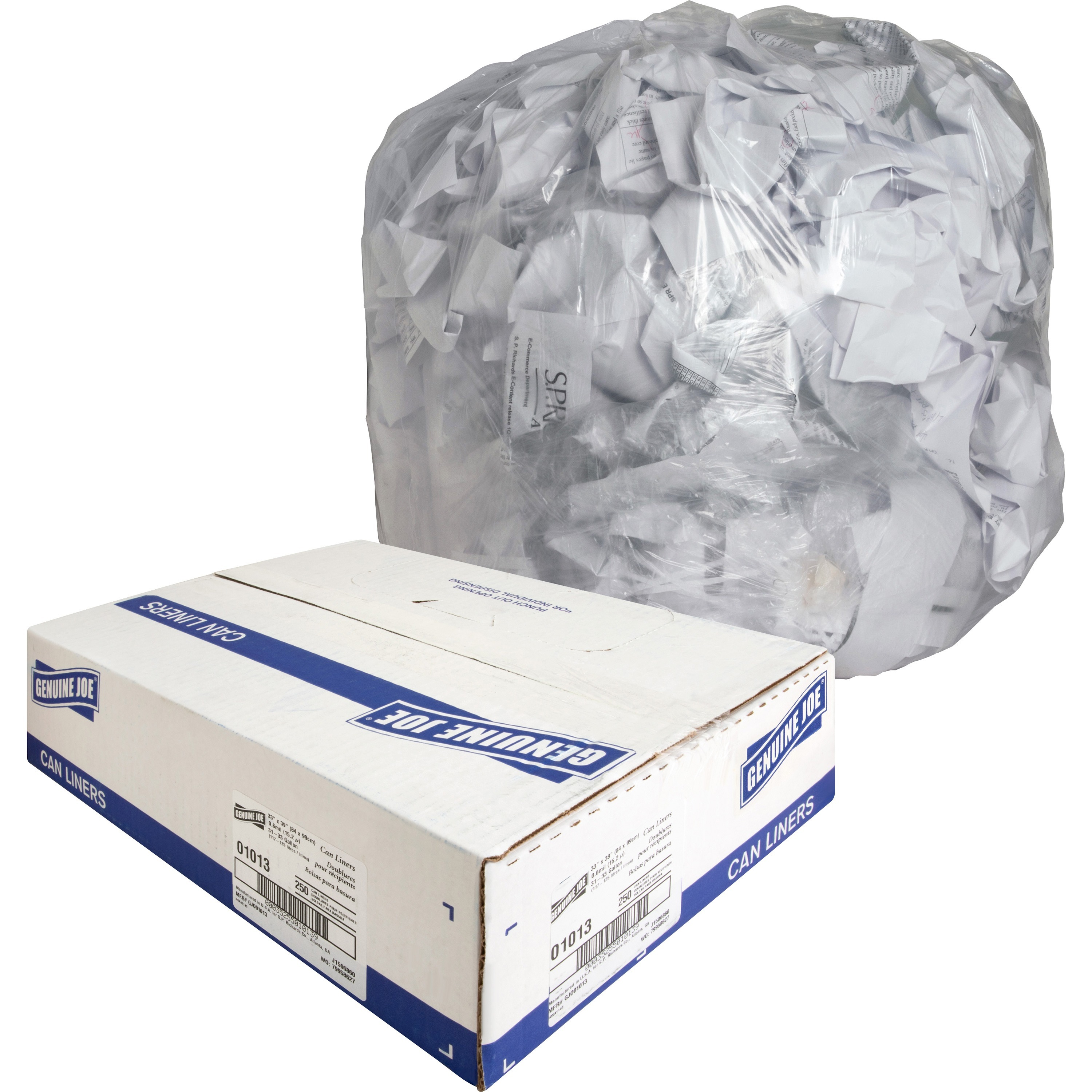 25//Roll White IBSSL3036XHW Low-Density Can Liner 30-Gallon.80 Mil 30 x 36