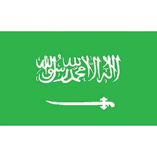 "Saudi Arabia Flag On Stick 4"" x 6"""