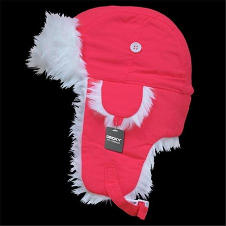 Decky 779-PL-NPK-06 White Synthetic Fur Aviator Hat- Neon Pink - Small & Medium for $<!---->