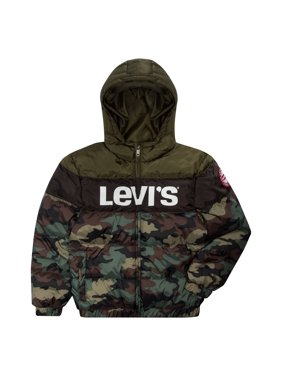 Levi's Boys Colorblock Logo Hooded Puffer Jacket, Sizes 8-20