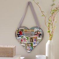 Personalized Family Love Photo Heart Plaque