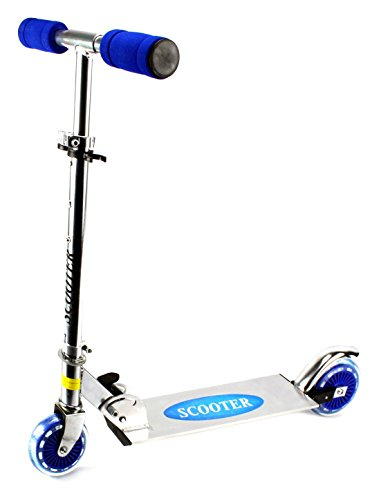 Kick Riders Aluminum Children's Two Wheeled Metal Toy Kick Scooter, Adjustable Handlebar... by Velocity Toys