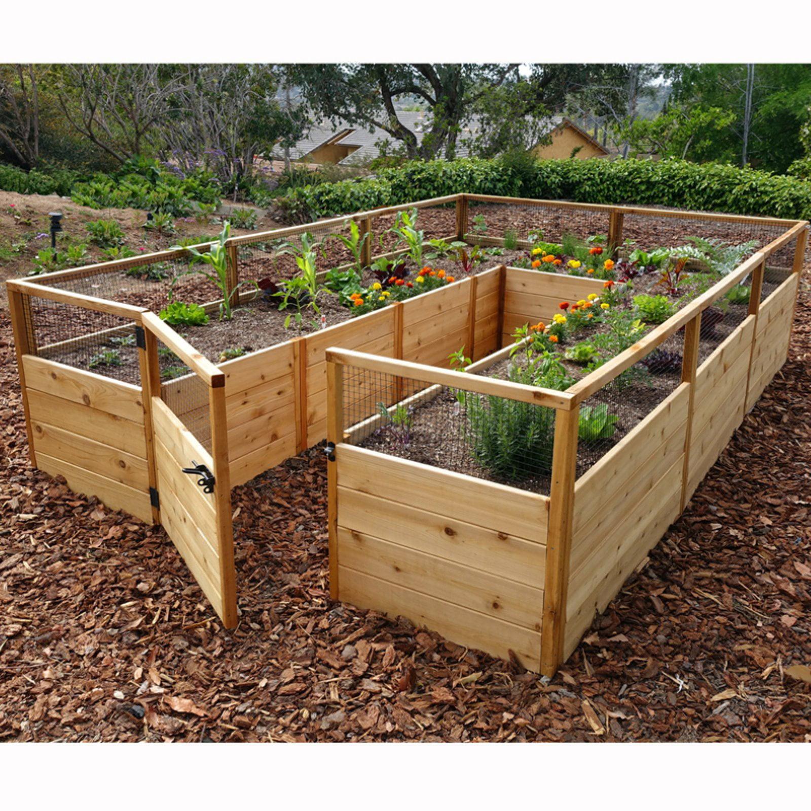 Outdoor Living Today Raised Cedar Garden Bed - 8 x 12 ft.