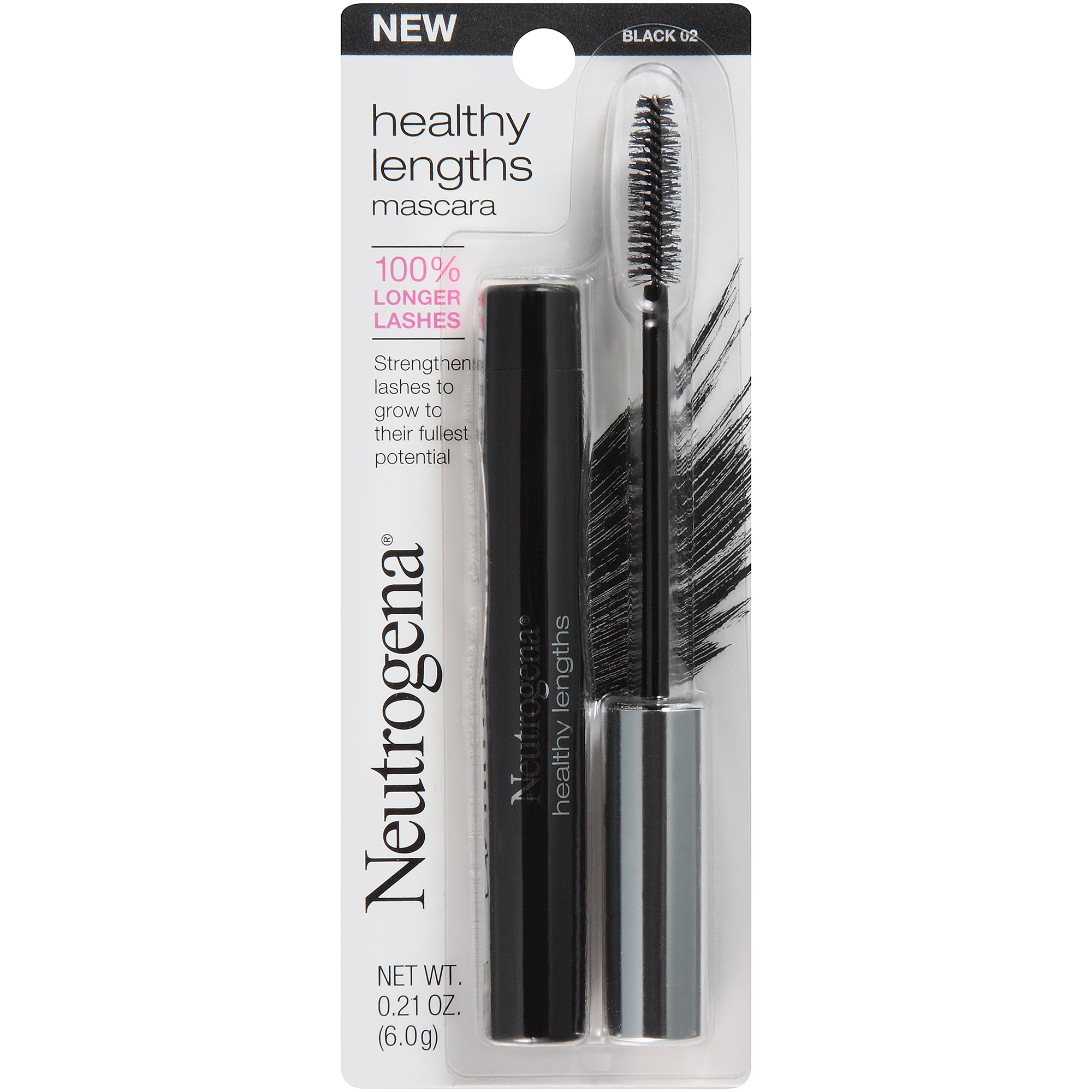Neutrogena Healthy Lengths Mascara, Black 02, .21 Oz