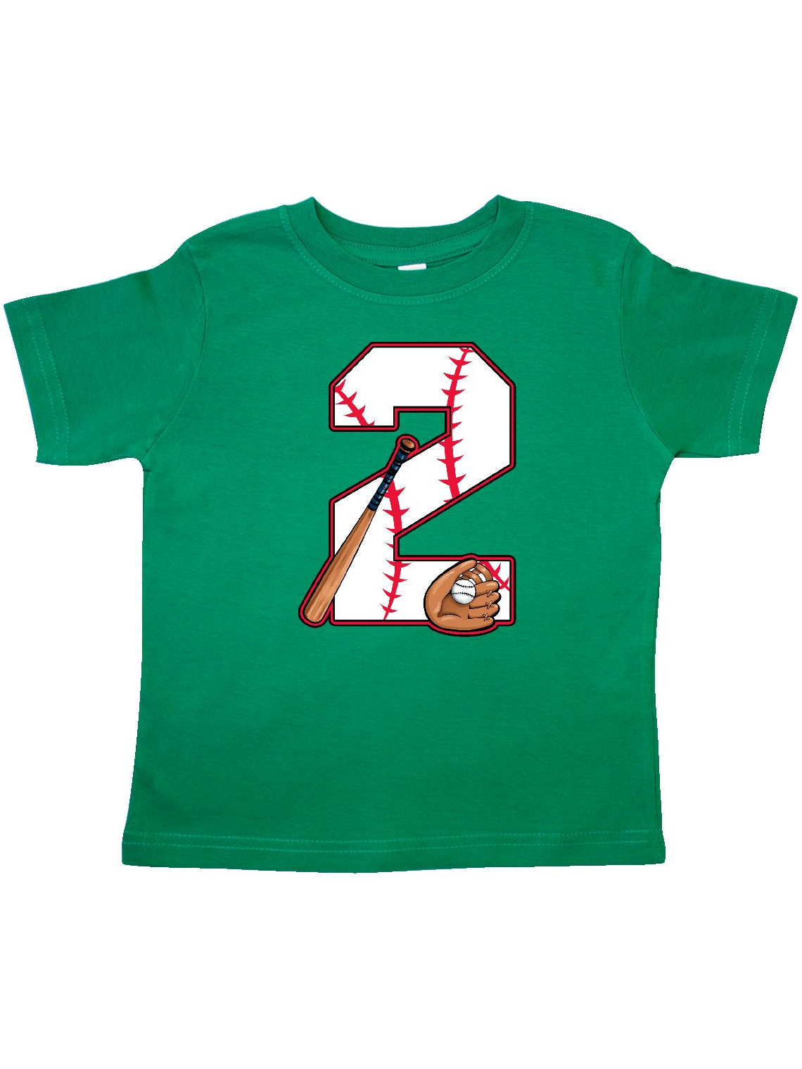 Baseball Second Birthday- two years old Toddler T-Shirt