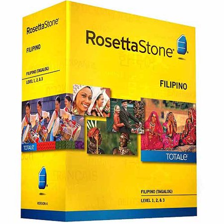 Rosetta Stone Version 4 Filipino  Tagalog  Levels 1 3 Set  Pc Mac