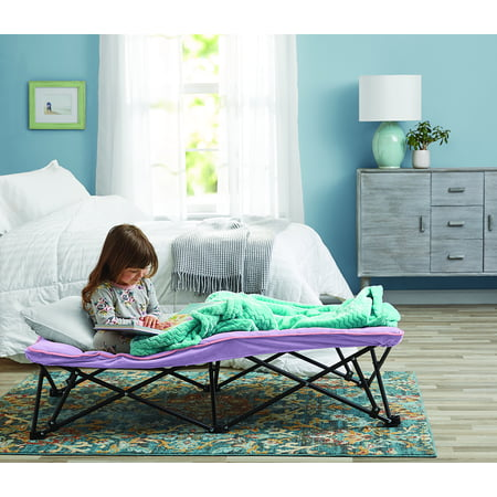 """Your Zone Kids Folding Cot with Cover, Lilac Bud, 52"""""""