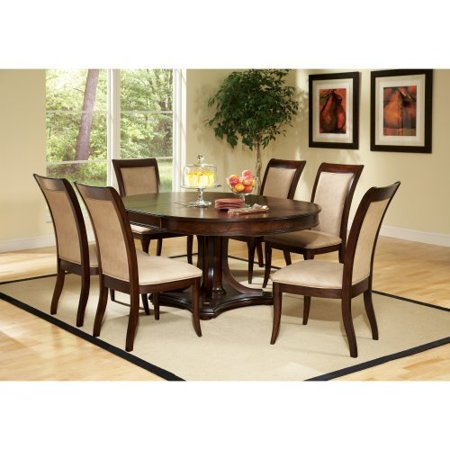 marseille round pedestal dining table dark cherry