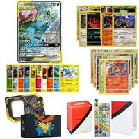 Totem World Pokemon Tag Team GX Ultra Rare Guaranteed with 5 Holo Rares, 5 Rares, 10 Uncommon Foils, 40 Regular Cards, Totem Deck Box & Mini Binder Collectors Album in Hidden Fates Storage Tin or Box