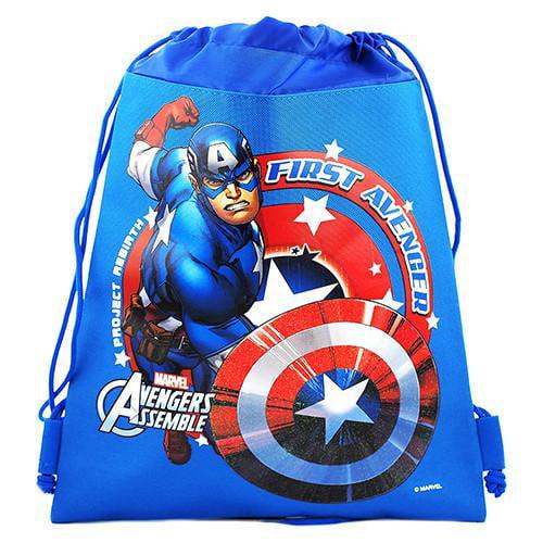CAPTAIN  AMERICA     Dawstring PE Bag Personalised Swimming Shoes Gym