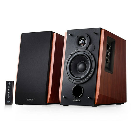 Edifier R1700BT Bluetooth Bookshelf Speakers - Active Near-field Studio Monitors - Powered Speakers 2.0 Setup Wooden Enclosure - 66w
