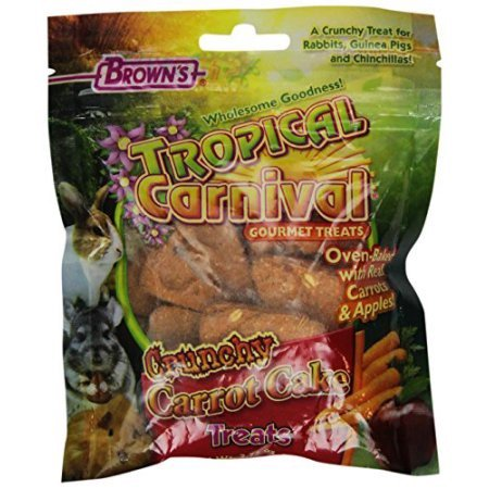 F.M.Browns Tropical Carnival Crunchy Carrot Cake Treats Fm45033 F.M. - Carnival Treats