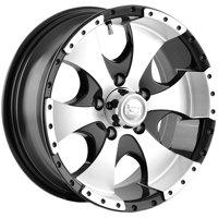 "Ion 136 15x6 5x4.5"" +0mm Black Wheel Rim 15"" Inch"