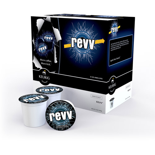 revv Dark Roast Arabica Coffee Keurig K-Cup Single-Serve Packs, 16 count