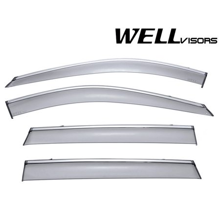 WellVisors For Nissan Rogue 14-19 Side Window Visors Tinted -