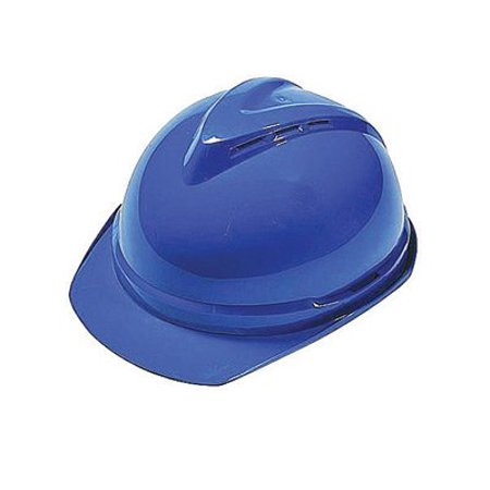 Msa Blue Class C Type I V Gard 500 Polyethylene Vented Style Hard Cap With 6 Point Fas Trac Ratchet Suspension  Msa Blue Class C Type I V Gard 500    By Msa Mine Safety Appliances Co