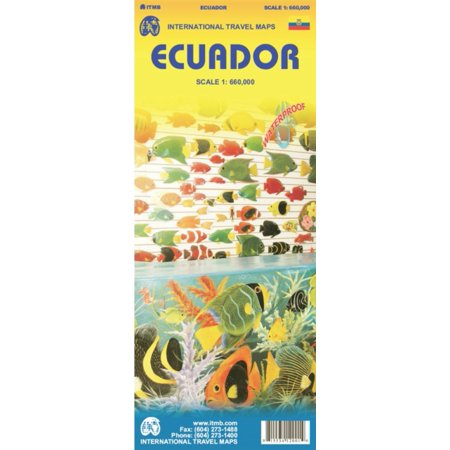 Ecuador Travel Reference Map  Wp   1 700 000